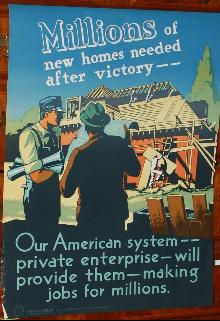 WWII Construction Jobs Poster Rochester NY