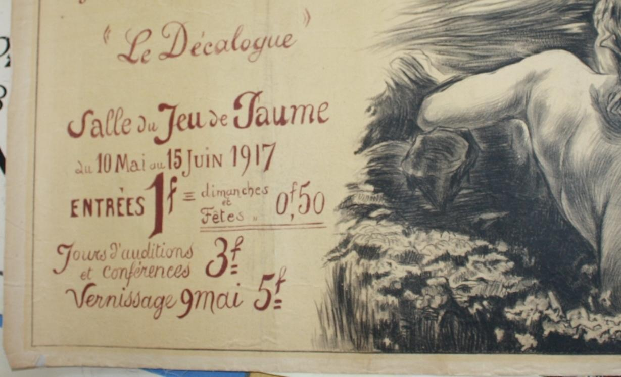 WWI French Nude Art Print France 1917
