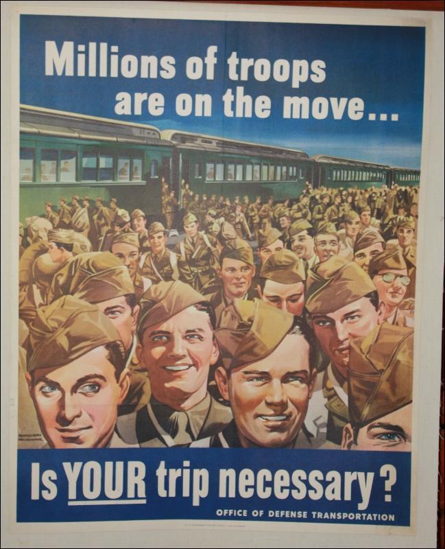 WWII Dough Boys USA Poster 1940s