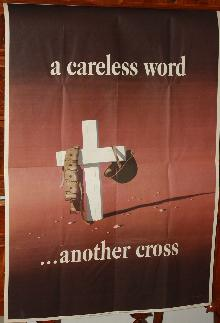 WWII Careless World Cross to Bear Poster 1940s