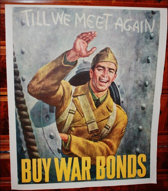 WWII Buy War Bonds Solider Poster