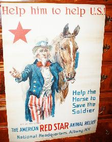 WWI Uncle Sam Horse Rescue Poster Rare