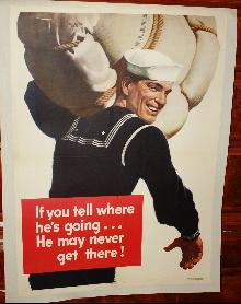 WWII USA Navy Poster 1940s Ealter