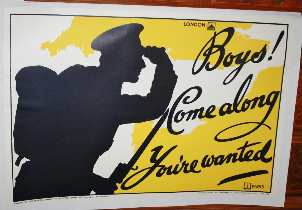 WWI British Recruitment Poster Paris