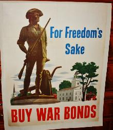 WWII New England Freedom War Bond Poster