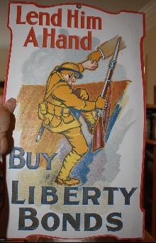 WWI Diecut Liberty Bonds Store Sign