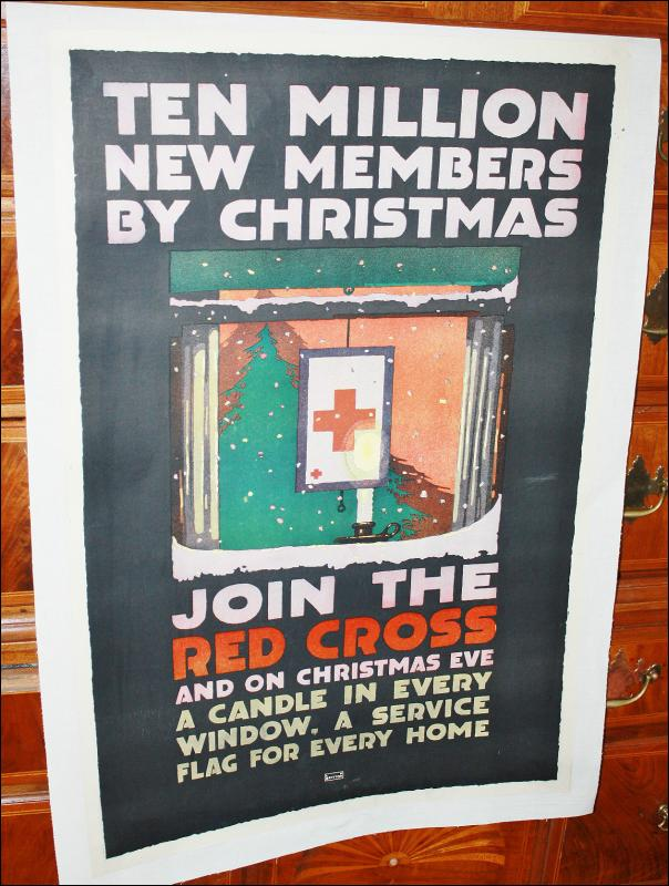 WWI Red Cross Xmas Poster