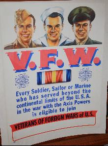 WW2 VFW Veterans Recruitment Poster