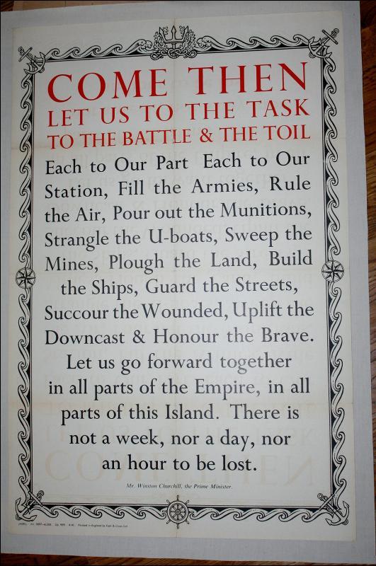 WWII Churchill War Poster England