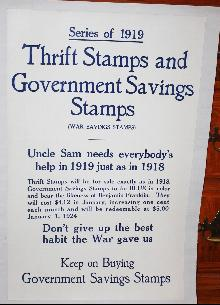 WWI 1919 War Bonds Thrift Xmas Poster