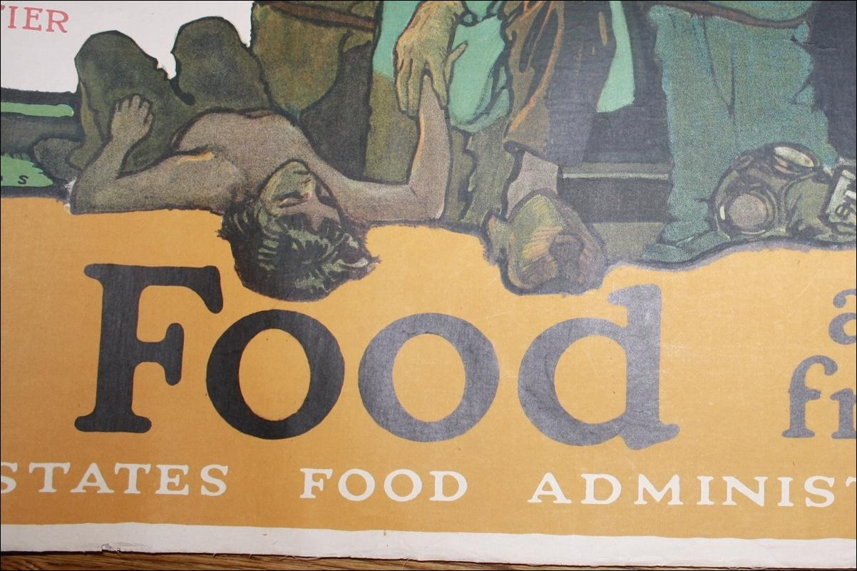 WWI Paus Save Food Poster