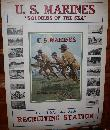 WWI USA Marines Soldiers Sea Poster