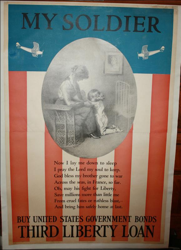 WWI Prayer USA Flag Poster