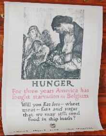 Belgium Hunger Relief Poster WW1