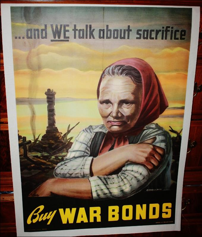 Couillard WW2 War Bonds Poster Lined