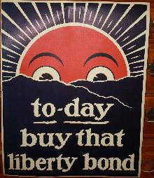 WWI Sunrise Sun Shining Liberty Bond Poster