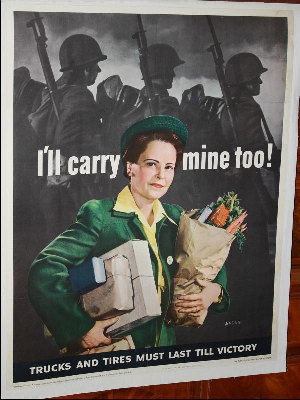 WWII Sarra Food Tire Poster