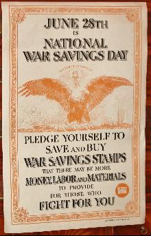 WW1 War Savings Poster Day