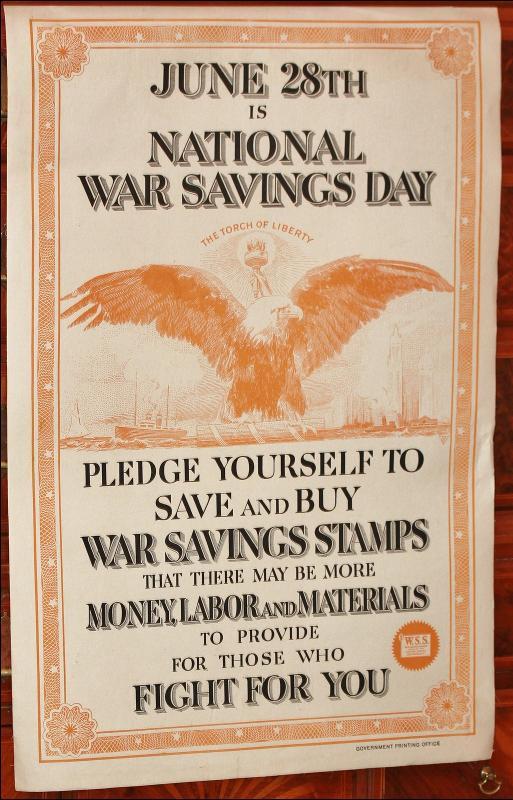 WW1 War Savings Poster Day