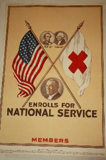 WW1 Red Cross Presidents Poster