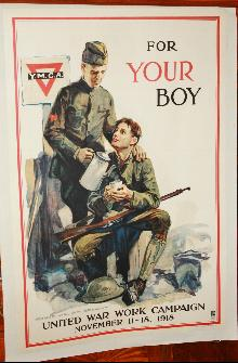 WW1 YMCA Arthur William Brown Poster