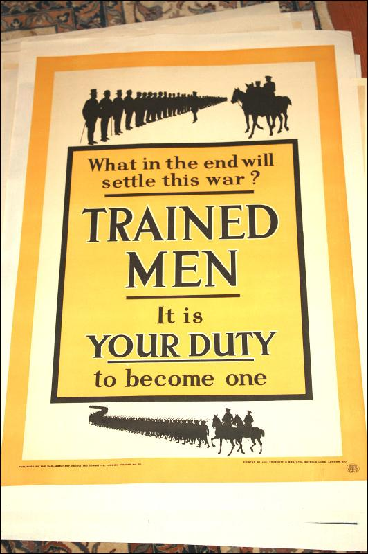 WWI British Trained Men Poster