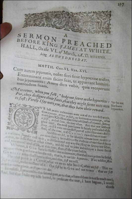 Antique Religious Sermon Whitehall Ash Wednesday