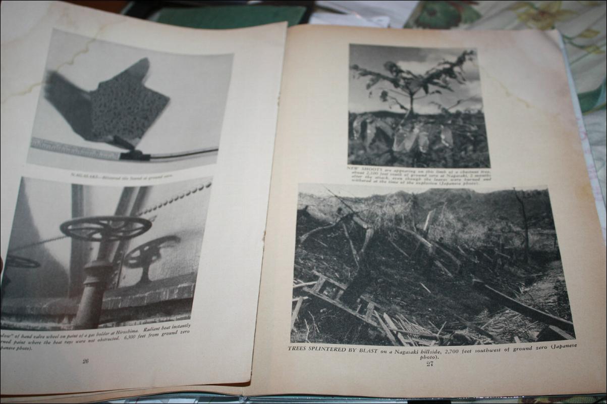 USA Military Bombing Survey Book with Maps Hiroshima Nagasaki 1946