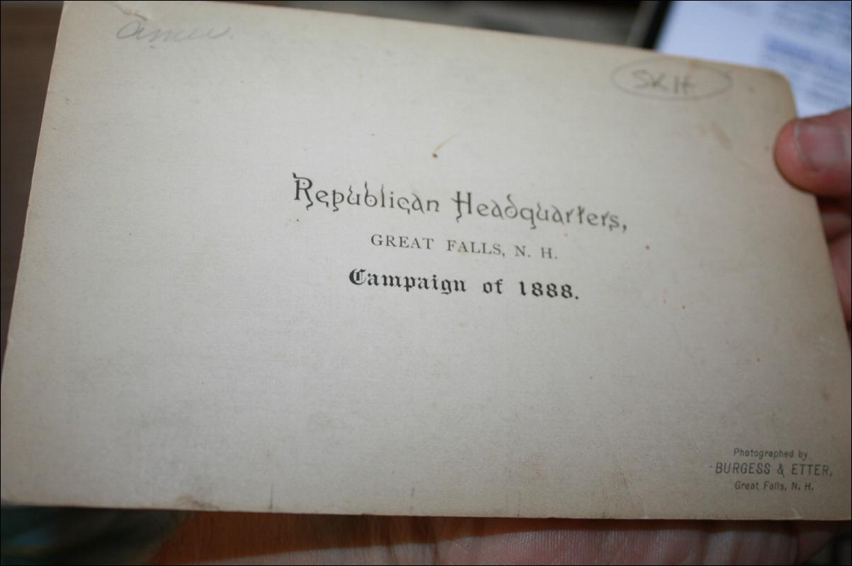 1888 Antique Republican Party Cabinet Card