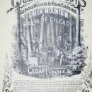 Vermont Green Mountain Gilead Poster 1868