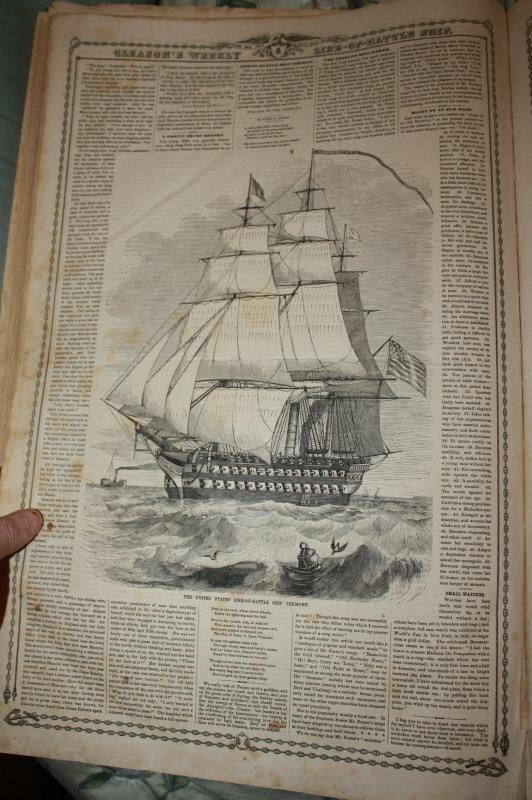Gleason's Battle Ships Bound Book 1859