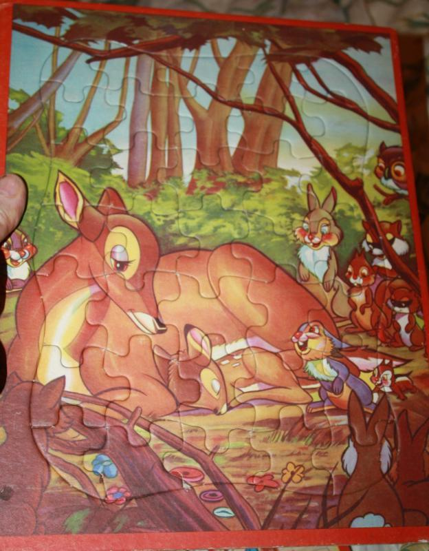 Bambi Tray Puzzle 1952