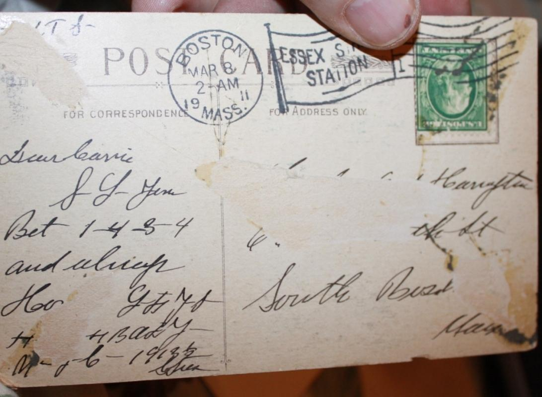 Stolen Kisses Telephone Postcard 1911