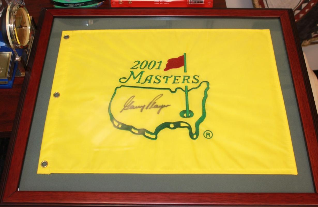 2001 Official Masters Flag Autographed by Gary Player