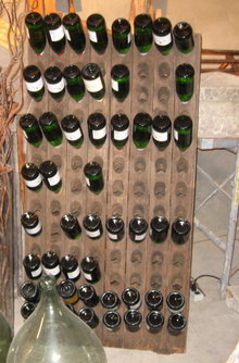 Vintage  Champagne Riddling Rack