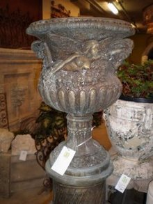 Pair of Belle Epoque Bronze Urns