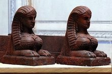 Pair of Sphinx Andirons