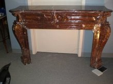 Antique Brune Marble Mantel