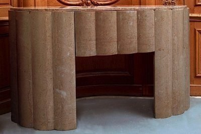 Curved Art Deco Mantel