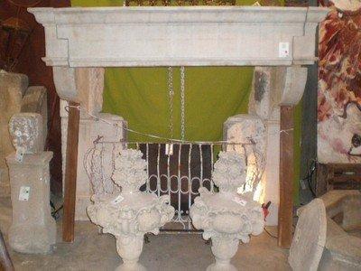 Antique Chateau Mantel