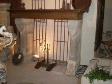 Gothic Style Antique Mantel