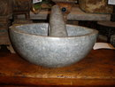 Carved Stone Mortar & Pestle