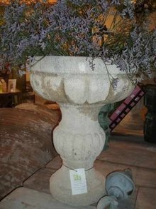 Pair of Limestone Urns