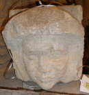 Hand Carved Stone Head