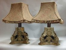 Pair of Acanthus Leaf Lamps