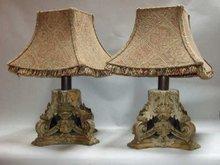 Pair of Acanthus Leaf Lamps