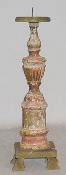 Colonial Polychrome Candlestick