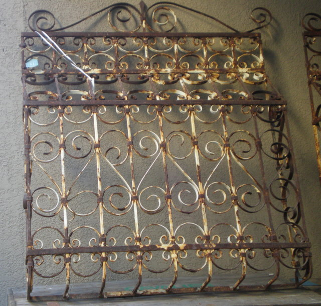 Painted Iron Window Grate
