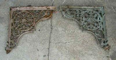 Pair of Victorian Cast Iron Brackets