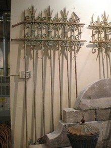 Pair of Antique Iron Gates